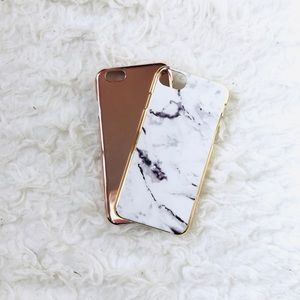 Rose Gold and Marble iPhone 6/6s/7/8 Plastic Cases